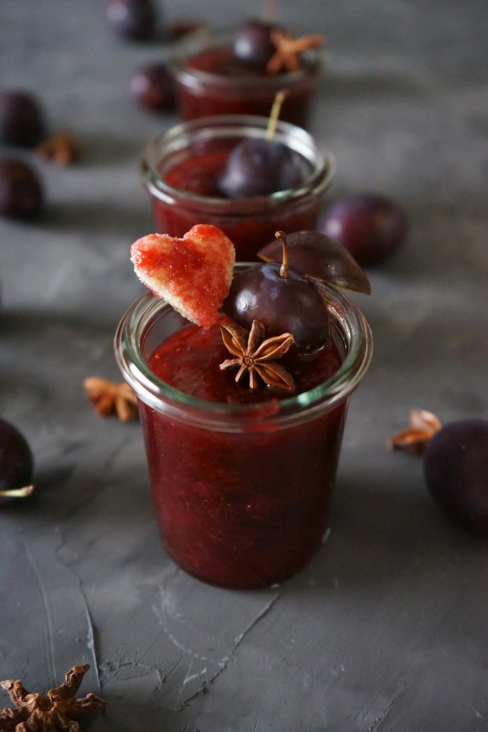 Zwetschgen Marmelade mit Balsamico Essig