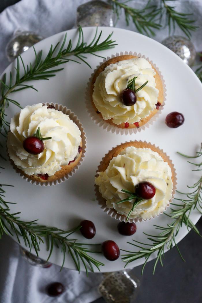Cranberrie-Pecannuss-Cupcakes