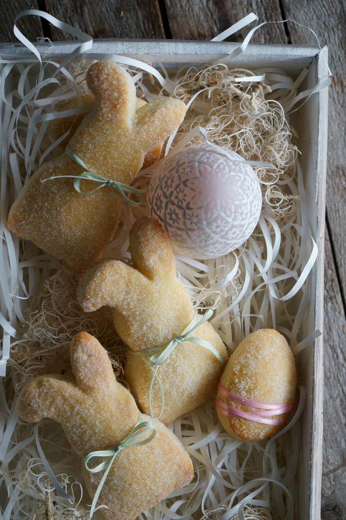 Süße Osterhasen aus Quark-Öl-Teig