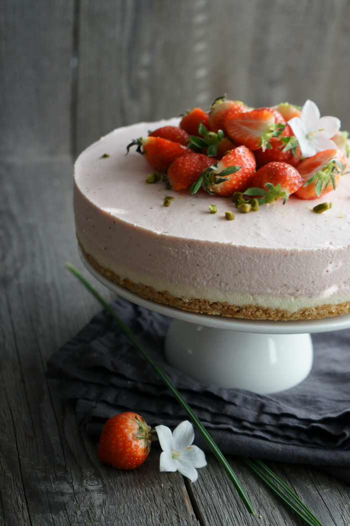 Erdbeer Mascarpone Cheesecake no-bake - Lissi's Passion