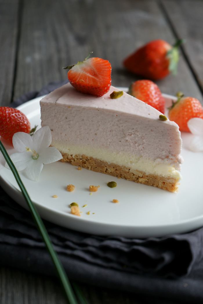 Erdbeer Mascarpone Cheesecake no-bake