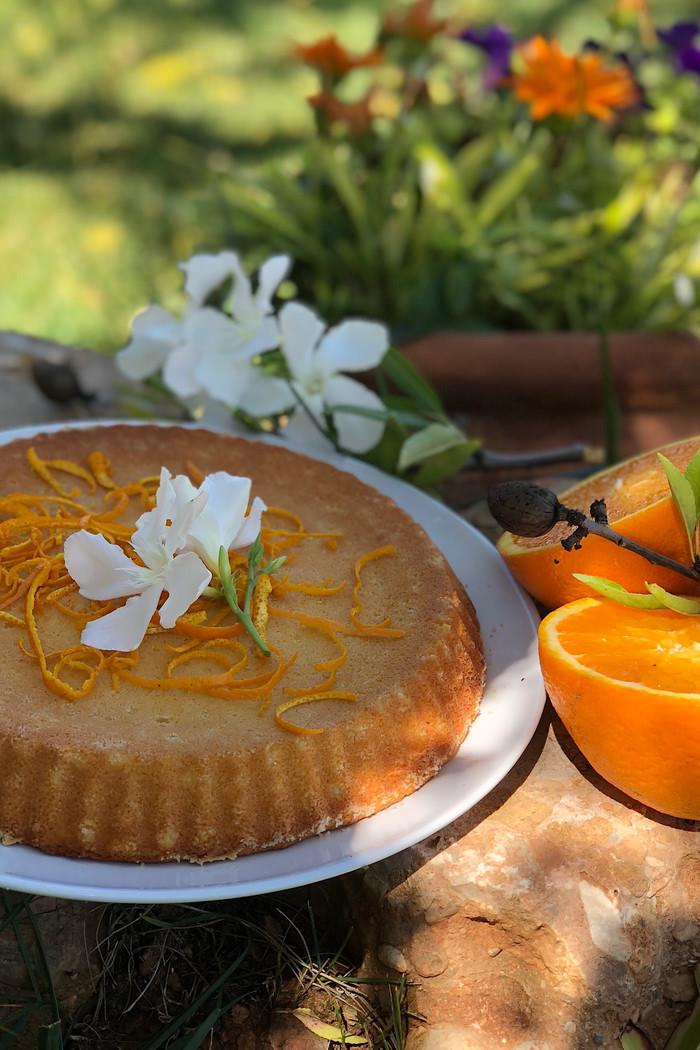 Orangen Mandel Kuchen (glutenfrei)