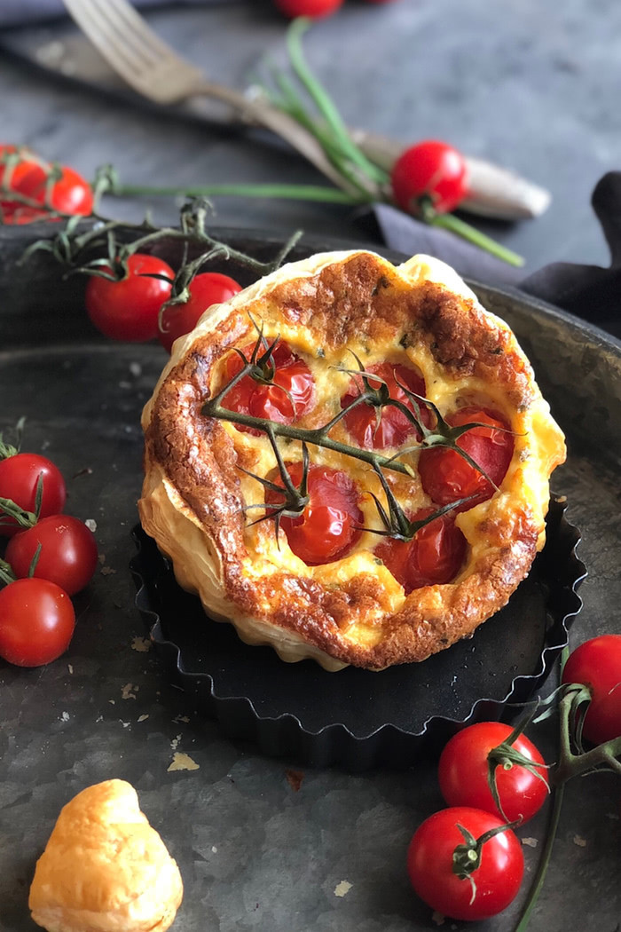 4 Mini Tomaten Quiches