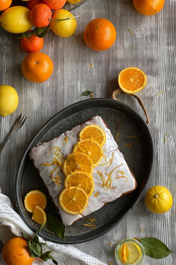 Saftiger Orangen – Joghurtkuchen