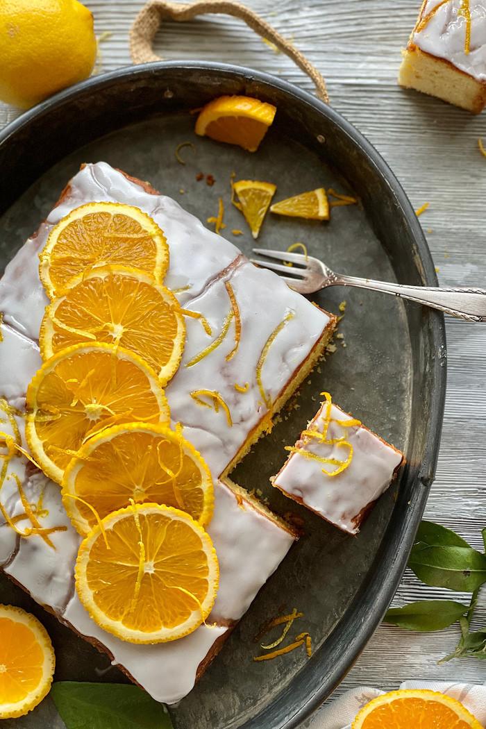Saftiger Orangen - Joghurtkuchen