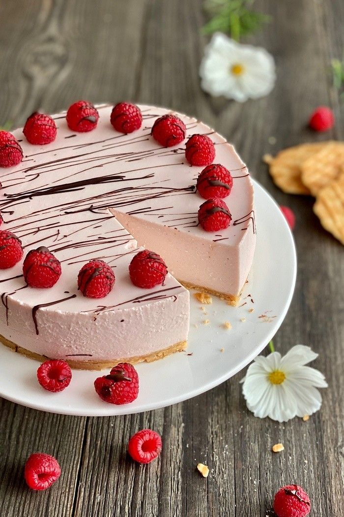 Himbeer-Cheesecake no-bake