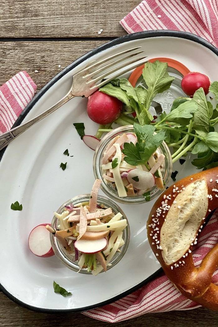 Einfacher Schweizer Wurstsalat