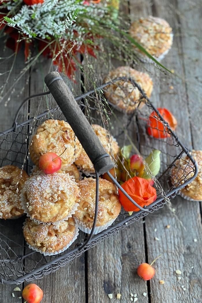 Bratapfel Muffins mit Buttermilch