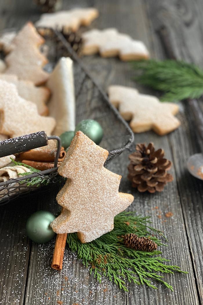 Süße Weihnachtstannenbäume