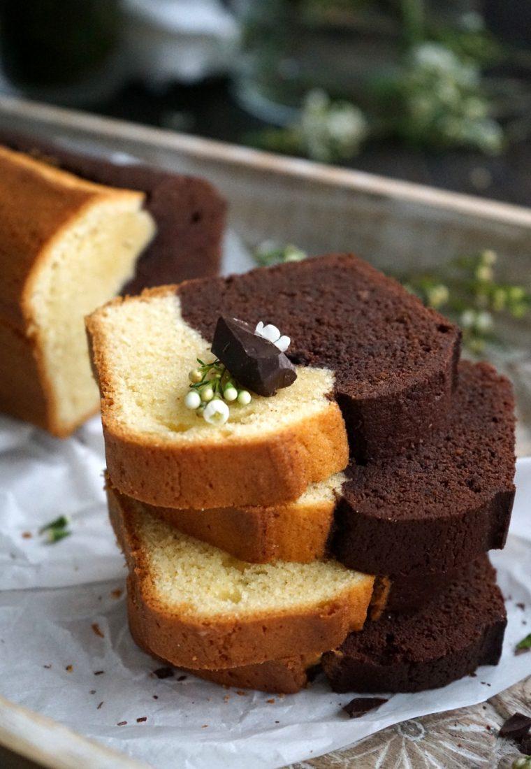 Schokoladen – Vanille – Kuchen mein Yin & Yang Kuchen