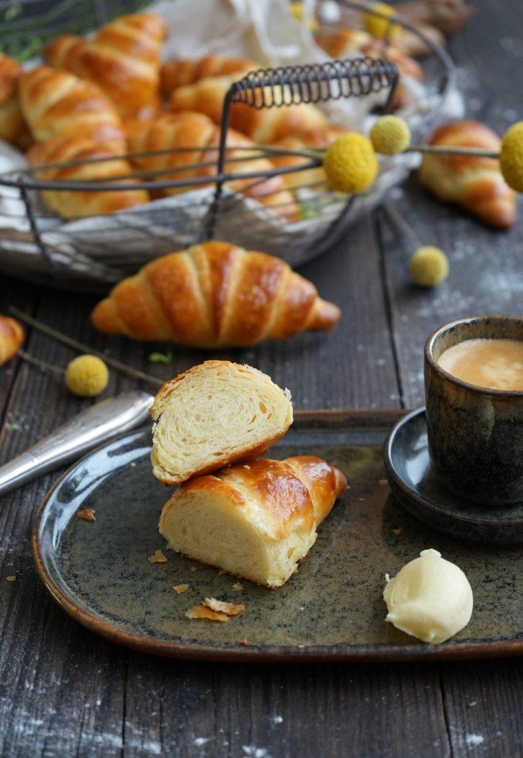 Butterzarte Frühstückshörnchen